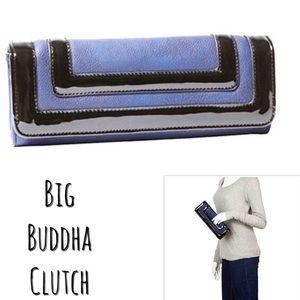Big Buddha Blue/Black Clutch,NWT